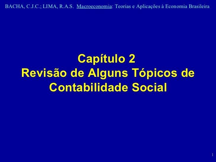 Capítulo 2  Revisão de Alguns Tópicos de Contabilidade Social