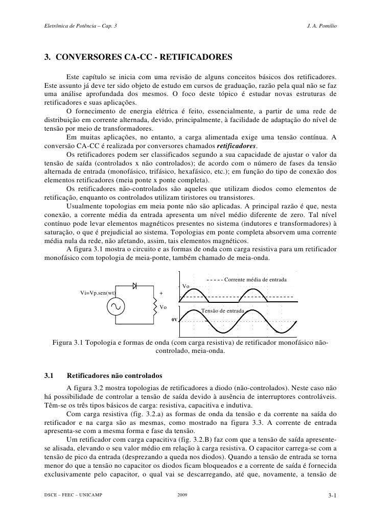 Eletrônica de Potência – Cap. 3                                                           J. A. Pomilio     3. CONVERSORES...
