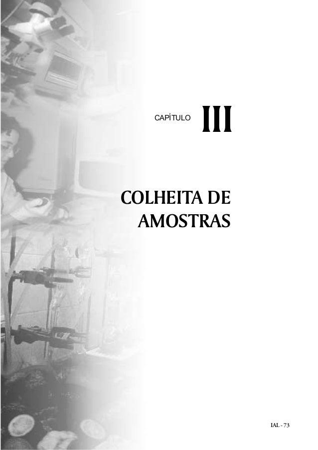 IAL - 73 COLHEITA DE AMOSTRAS IIICAPÍTULO