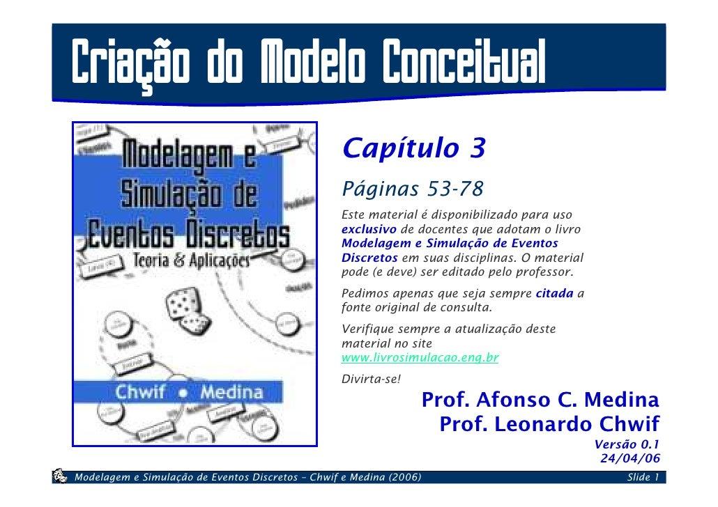 Criação do Modelo Conceitual                                                   Capítulo 3                                 ...