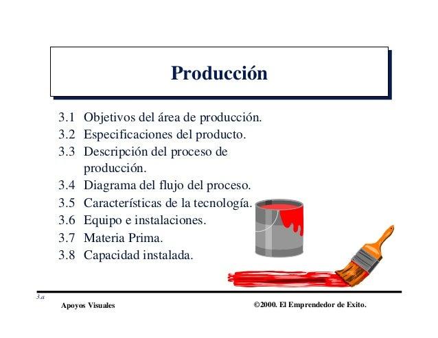Plan de negocios 4 for Descripcion del proceso de produccion