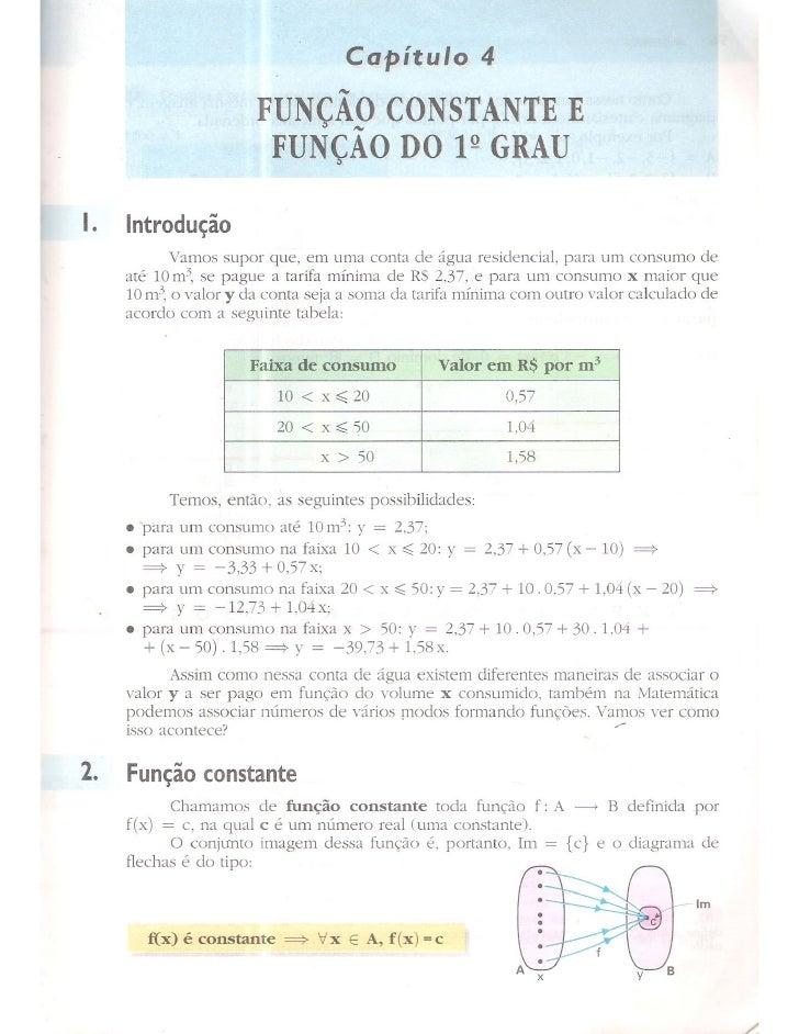 Cap 4   função constante e função 1 grau