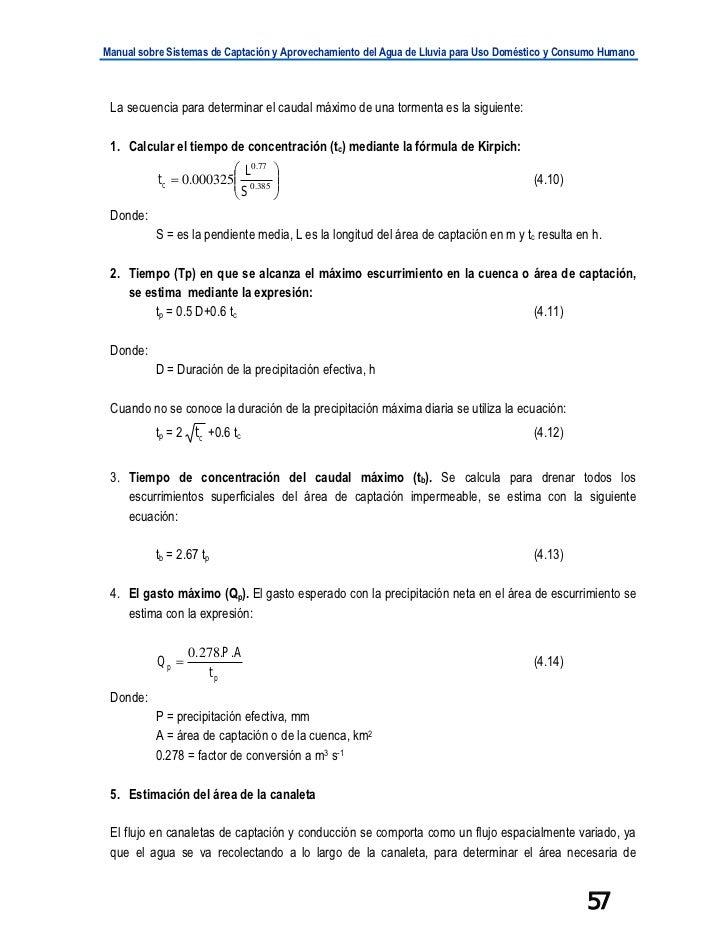 Manual sobre Sistemas de Captación y Aprovechamiento del Agua de Lluvia para Uso Doméstico y Consumo Humano La secuencia p...