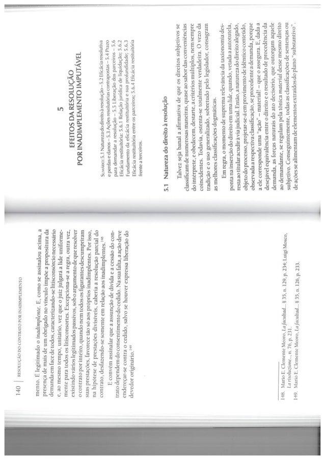 Cap 5   araken de assis resolução do contrato por inadimplemento