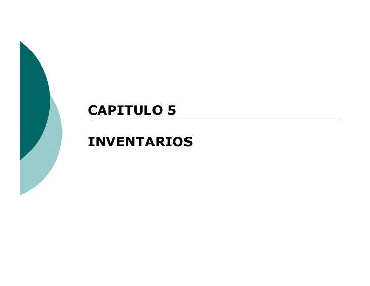 CAPITULO 5INVENTARIOS