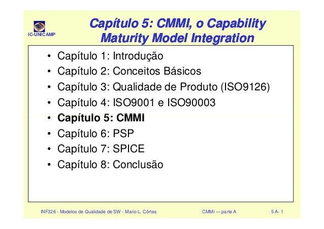 IC-UNICAMP Capítulo 5: CMMI, o CapabilityCapítulo 5: CMMI, o Capability Maturity Model IntegrationMaturity Model Integrati...