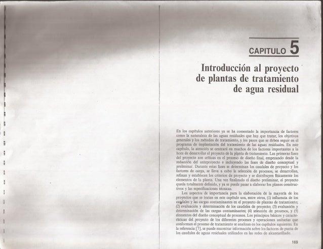 """ur n:  .v  1n- """"nrrww-  n:   : v     [,  CAPITULO r """"4  Introducción al proyecto '  de plantas de tratamiento de agua resi..."""