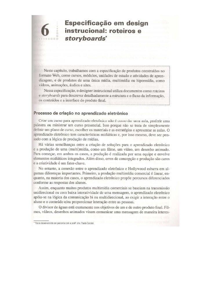 Cap 6   especificação em design instrucional