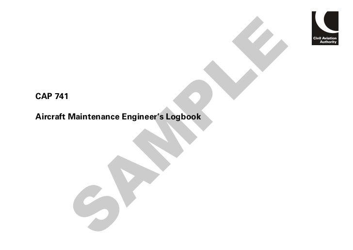 LECAP 741                       PAircraft Maintenance Engineer's Logbook       M      AS