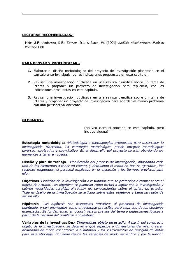 LECTURAS RECOMENDADAS.- - Hair, J.F.; Anderson, R.E.; Tatham, R.L. & Black, W. (2001) Análisis Multivariante. Madrid: Pren...