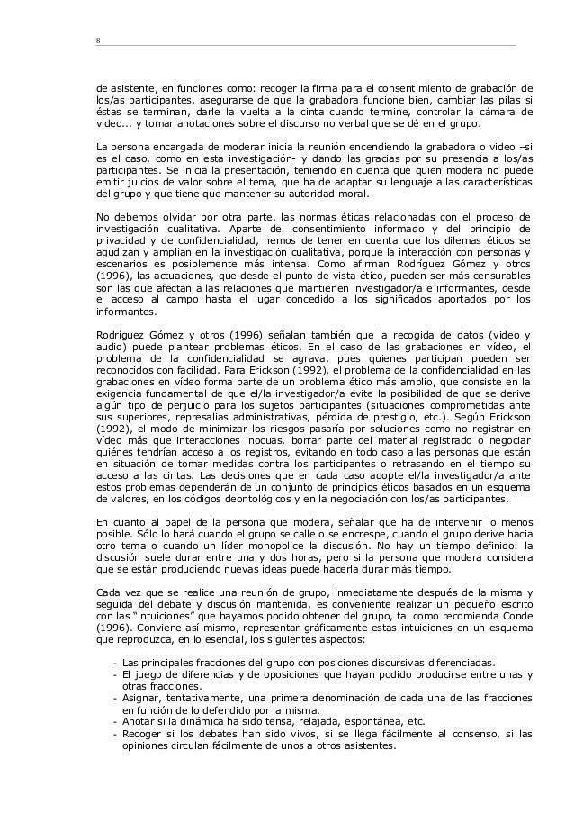 de asistente, en funciones como: recoger la firma para el consentimiento de grabación de los/as participantes, asegurarse ...