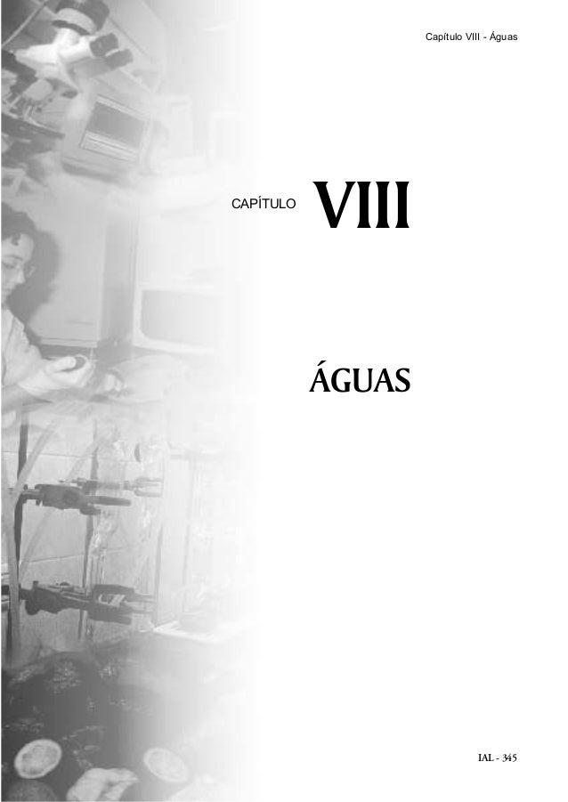 IAL - 345 ÁGUAS VIIICAPÍTULO Capítulo VIII - Águas