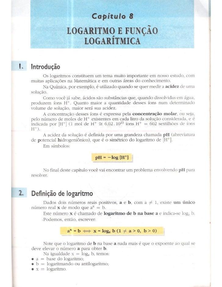 Cap 8   logaritmo e função logarítmica