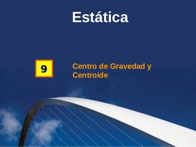 Estática  9  Centro de Gravedad y Centroide