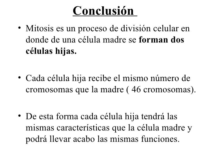 conclusion mitosis Best answer: the answer is a homologous chromosomes are separated if you go through the phases of meiosis this is how it plays out meiosis 1: from interphase to prophase 1 the diploid chromosomes replicated to 4n homologous pairs (this happens in 5 stages during prophase 1, but i am not for.