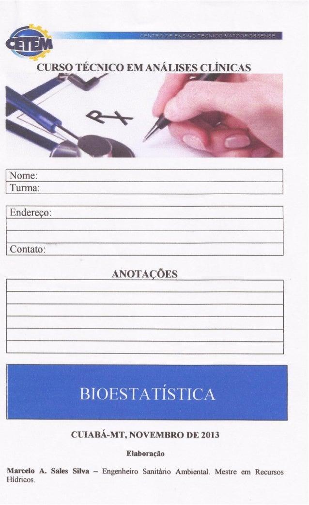 APOSTILA DE BIOESTATÍSTICA DO CETEM
