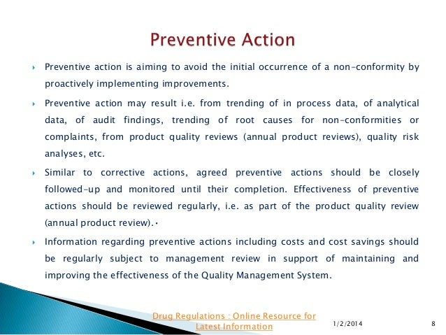 Corrective action examples downloadable corrective action for Preventive action plan template
