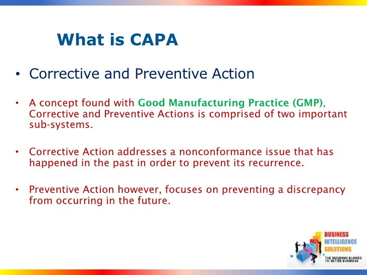 Capa A Five Step Action Plan – Corrective Action Plan