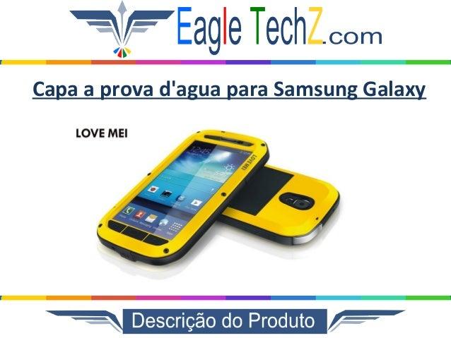Capa a prova d'agua para Samsung Galaxy