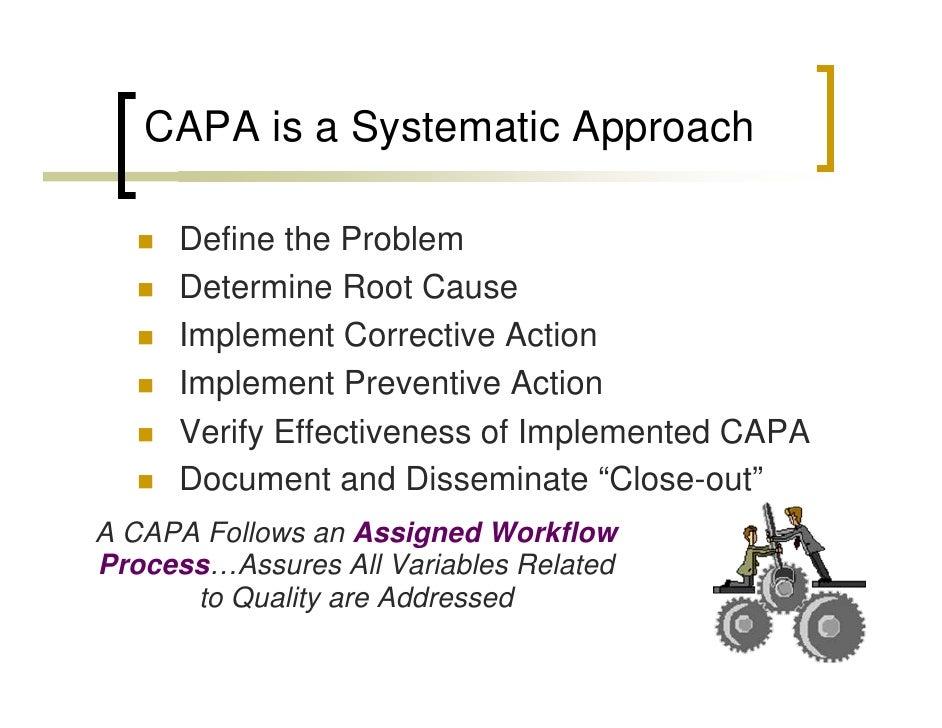 Corrective and Preventive Actions (CAPA) | FDA