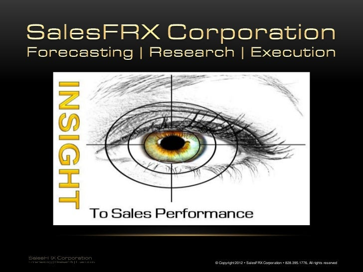 © Copyright 2012  SalesFRX Corporation  828.395.1776, All rights reserved