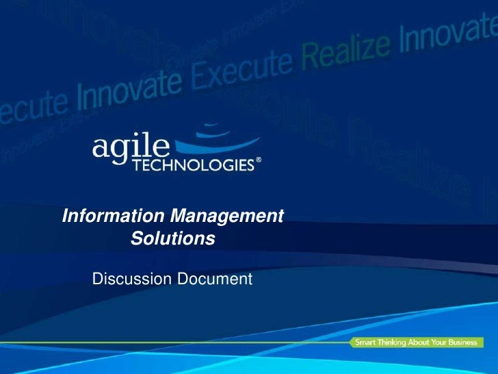 Information Management Solutions<br />Discussion Document<br />