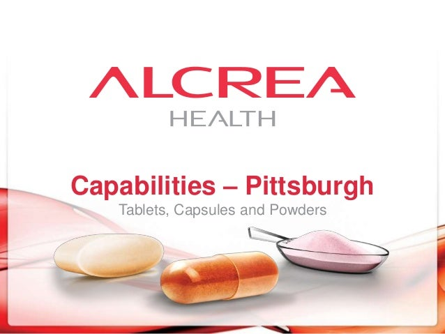 Capabilities – Pittsburgh Tablets, Capsules and Powders