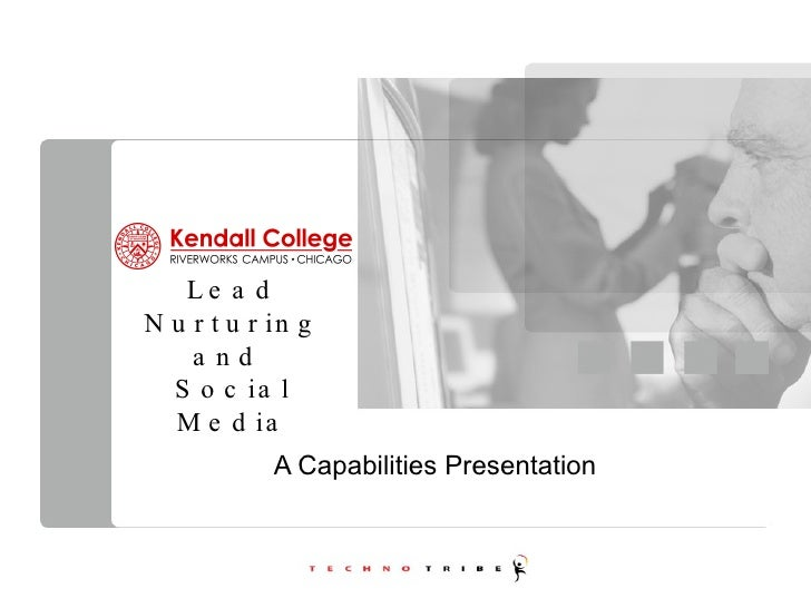 Lead Nurturing and  Social Media A Capabilities Presentation