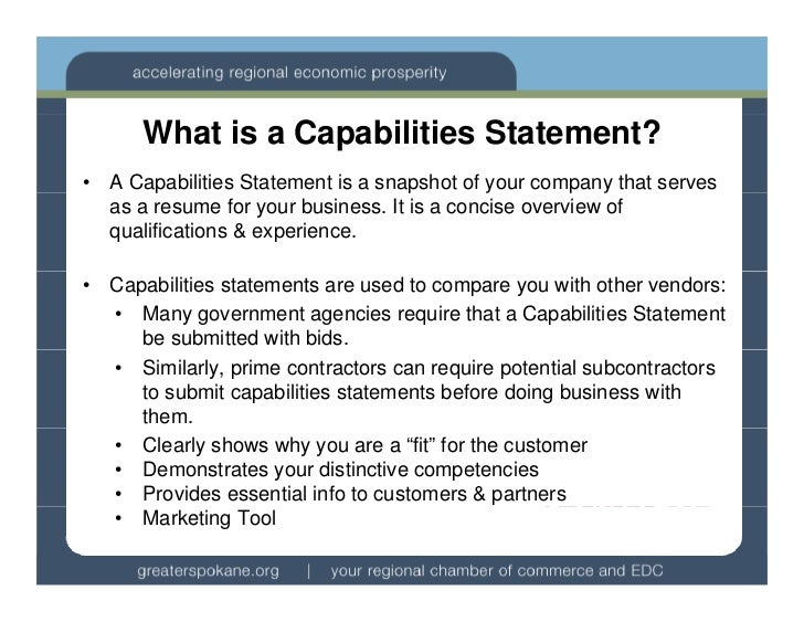 4. What Is A Capabilities Statement?