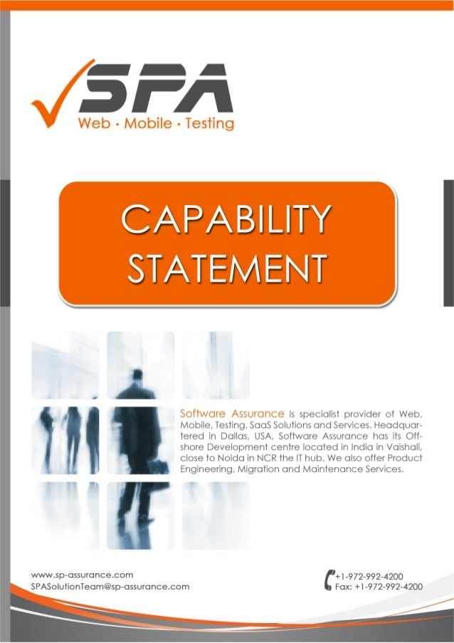 Capability Statement-Brochure