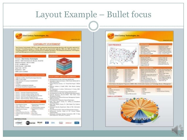 Layout Example U2013 Bullet Focus ...