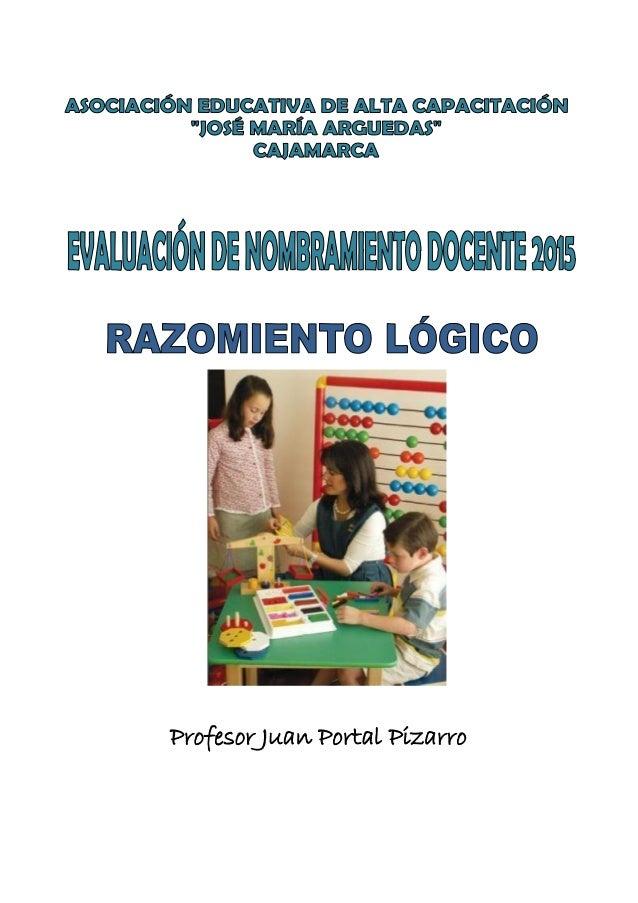 JUAN PORTAL PIZARRO Profesor Juan Portal Pizarro