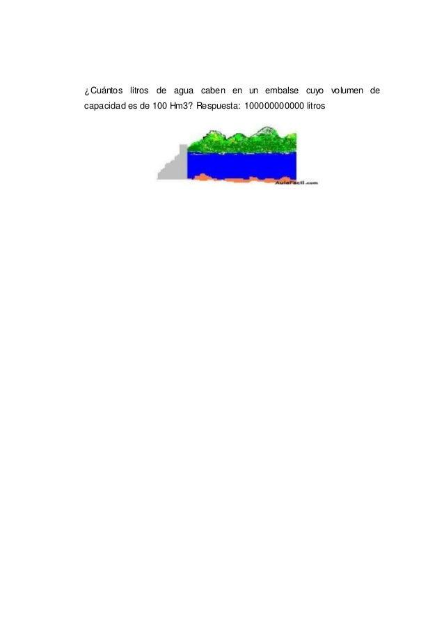 Capacidad y volumen for Cuantos litros de agua caben en una piscina