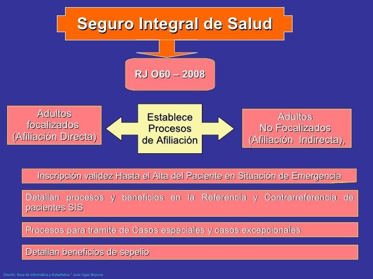 <ul><li>Detallan procesos y beneficios en la Referencia y Contrarreferencia de pacientes SIS </li></ul>Seguro Integral de ...