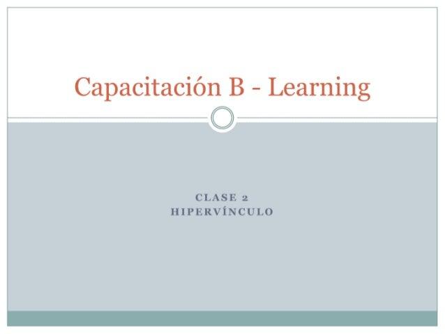 Capacitación B Learning (Prueba)