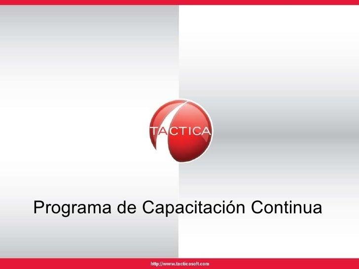 Programa de Capacitación Continua