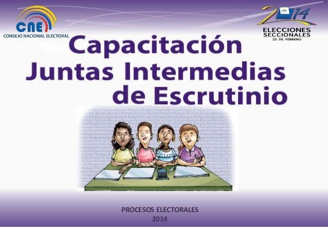 PROCESOS ELECTORALESTÉCNICA COORDINACIÓN NACIONAL 2014 de PROCESOS ELECTORALES