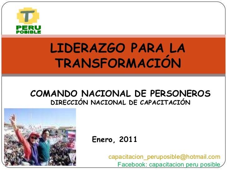 <ul><ul><li>COMANDO NACIONAL DE PERSONEROS </li></ul></ul><ul><ul><li>DIRECCIÓN NACIONAL DE CAPACITACIÓN </li></ul></ul><u...