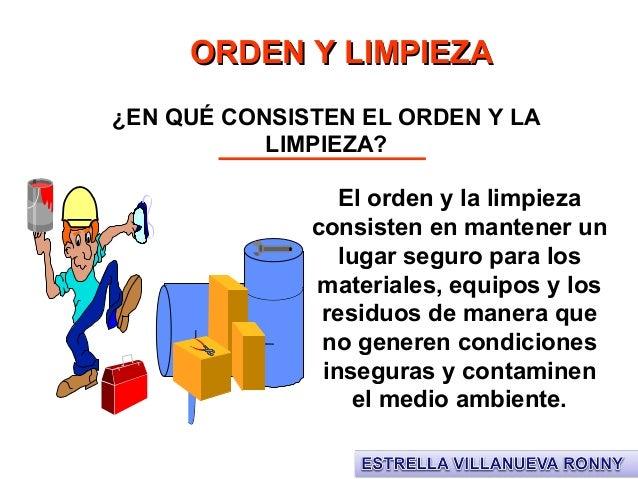 Capacitaci n orden y limpieza - Orden y limpieza en el hogar ...