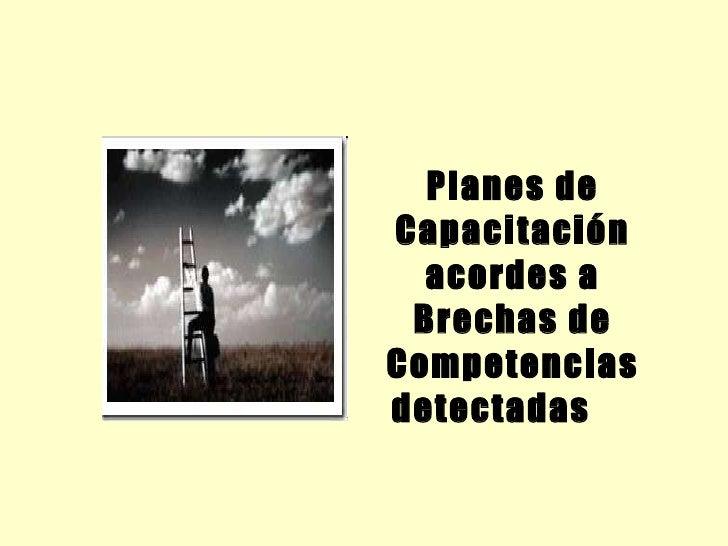<ul><li>Planes de Capacitación acordes a Brechas de Competencias detectadas </li></ul>