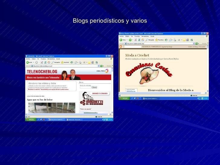 Blogs periodísticos y varios