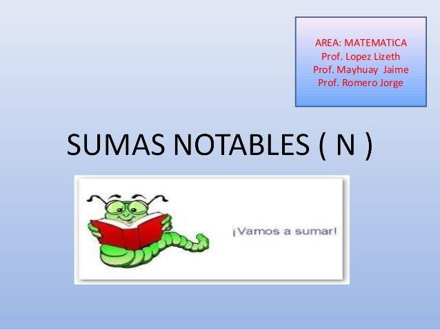 AREA: MATEMATICA Prof. Lopez Lizeth Prof. Mayhuay Jaime Prof. Romero Jorge