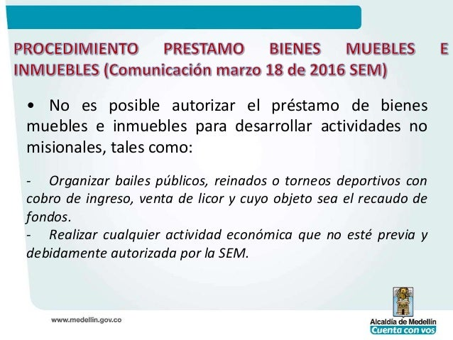Capacitacion 2 rector director procedimiento para prestamo for Bienes de muebles e inmuebles