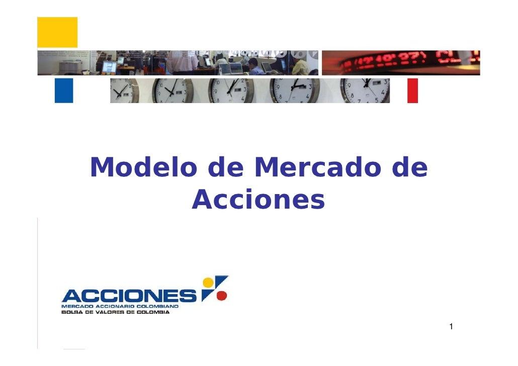 Modelo de Mercado de       Acciones                           1