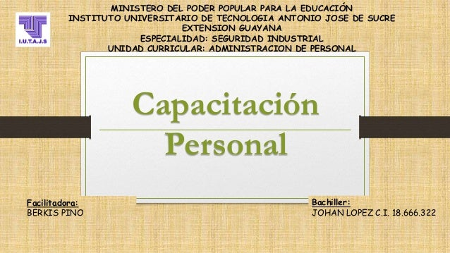 MINISTERO DEL PODER POPULAR PARA LA EDUCACIÓN INSTITUTO UNIVERSITARIO DE TECNOLOGIA ANTONIO JOSE DE SUCRE EXTENSION GUAYAN...