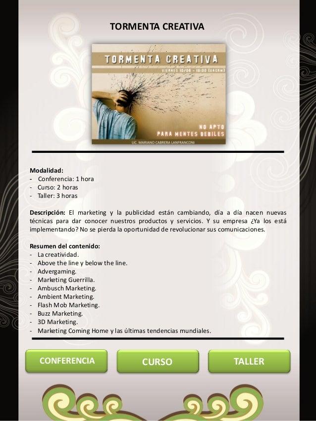 cursos y talleres mariano cabrera l abril 2013