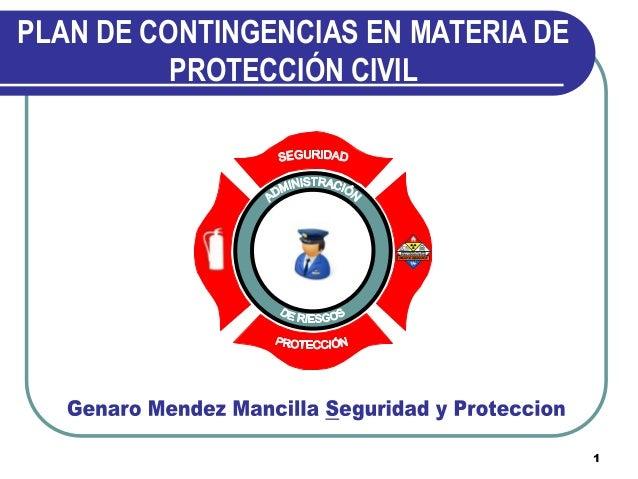 PLAN DE CONTINGENCIAS EN MATERIA DE PROTECCIÓN CIVIL  1