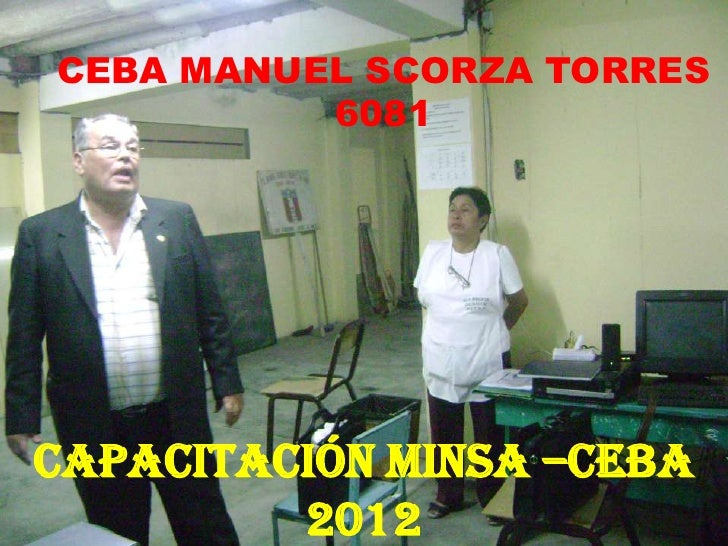 CEBA MANUEL SCORZA TORRES          6081Capacitación MINSA –CEBA         2012