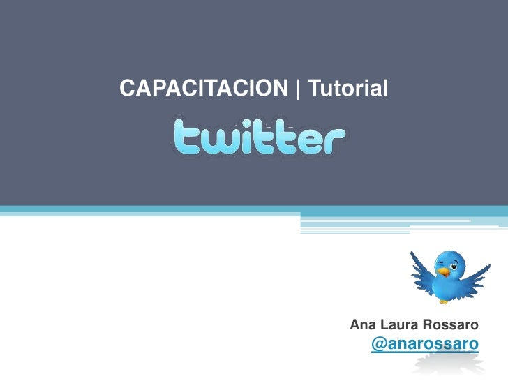 Capacitacion Twitter - 2010