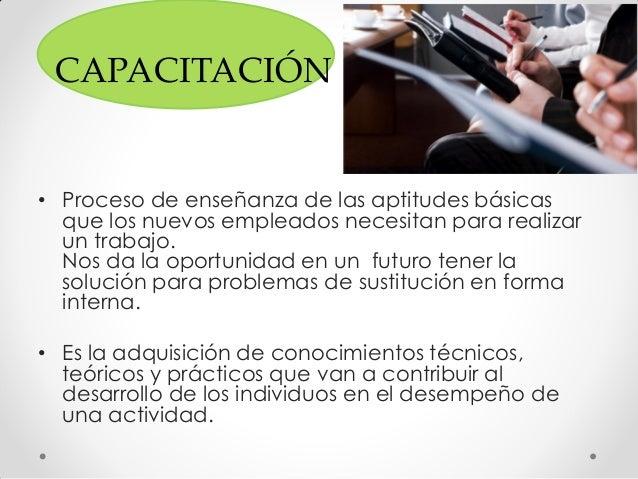 Capacitacion y adiestramiento Slide 3